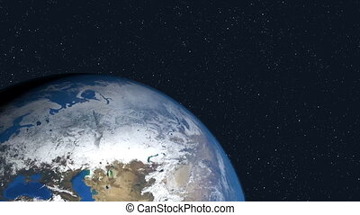 Earth animation an space. HD Resolution