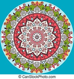 Mandala decoration, isolated design element. Zentangle style...