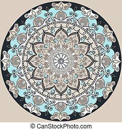 Mandala decoration, isolated design element Zentangle style...