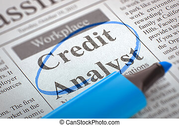 Credit Analyst Join Our Team - Newspaper with Small Ads of...