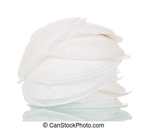 Absorbent pads for the chest isolated on white - Absorbent...