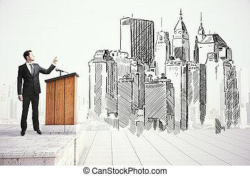 建築師, 公眾, 講話