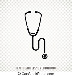 Healthcare vector Stethoscope icon Modern flat design - The...