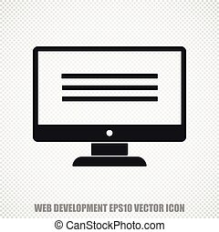 Web design vector Monitor icon Modern flat design - The...