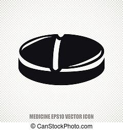Healthcare vector Pill icon Modern flat design - The...