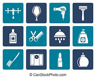 Personal careicons - Flat Personal care and cosmetics icons...