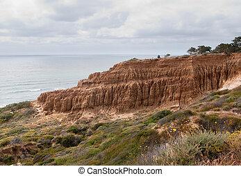 Cliffs off Torrey Pines state park