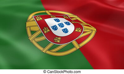 Portuguese flag in the wind Part of a series