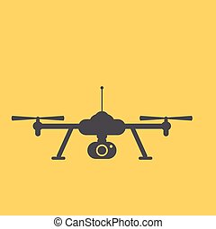 Drone icon Copter or quadrocopter with camera