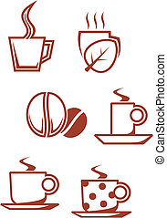Tea and coffee symbols