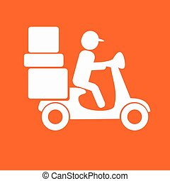 delivery moped icon