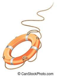 Life belt - Vector illustration - rescue life belt