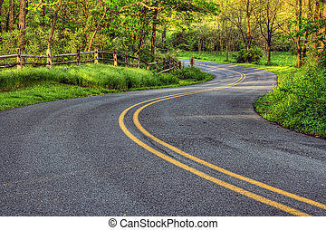 Winding Country Road in Southeastern Pennsylvania