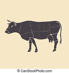 Cuts of beef vector illustration