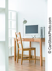 Small office in the corner