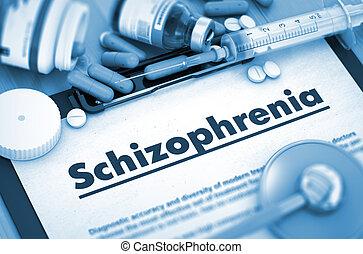 Schizophrenia Diagnosis. Medical Concept. 3D Render. -...