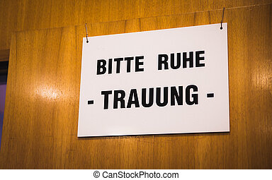 german wedding sign at registry office - german wedding sign...