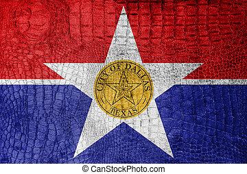 Flag of Dallas, Texas, on a luxurious, fashionable canvas