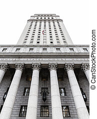 United States Court House. Courthouse facade with columns,...