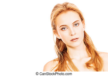 anti aging - Portrait of a beautiful young woman with...