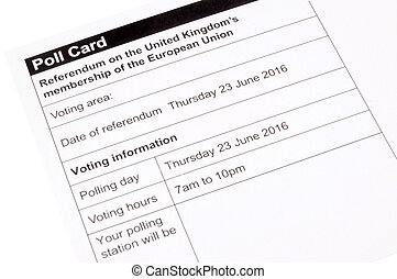 European Union Referendum - United Kingdom European Union...