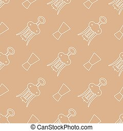 barman equipment contour seamless pattern - vector light...