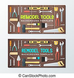 remodel tools backdrops banner templates - vector colorful...