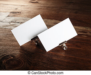 Blank white business cards - Photo of blank white business...