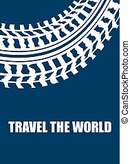 travel the world abstract background