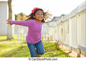 kid girl toddler playing running in park outdoor