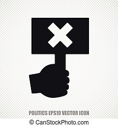 Politics vector Protest icon Modern flat design - The...