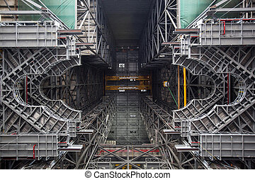 Spaceshuttle station for start Elements of this image...