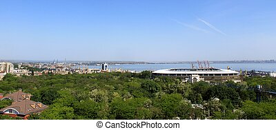 Aerial view on Odessa