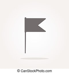vector flag sign web button icon