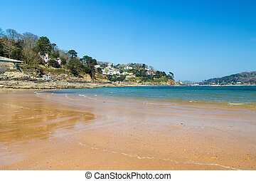 South Sands Beach Salcombe - Golden sandy beach at South...