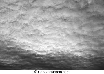 Stratocumulus black and white. - Cloud sky black and white,...