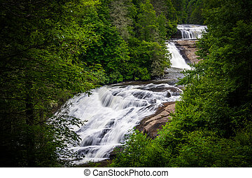 View of Triple Falls, in Dupont State Forest, North...