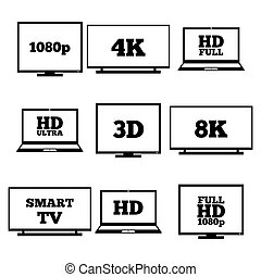 High definition signs, vector - A set of high-definition...