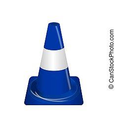 Road signs Blue Badge guardrails Vector Illustration - Road...