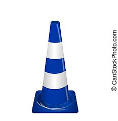 Road signs Blue Badge guardrails Vector Illustration - Road...