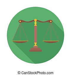 Scales of Justice sign. Law balance symbol - vector icon...