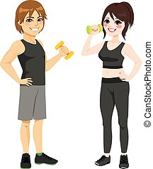 Fitness Dumbbell Couple