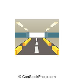 Parking for cars icon, cartoon style