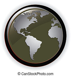 Globe concept icon web internet  illustration