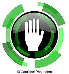stop icon, green modern design isolated button, web and...