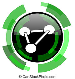 chemistry icon, green modern design isolated button, web and...