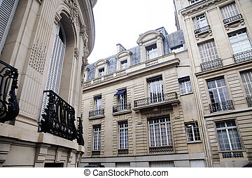 houses on french streets of Paris citylife concept regular...