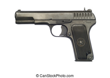 Tokarev TT33 Pistol - A Soviet TT33 pistol from 1942; the...