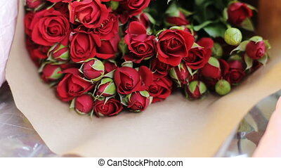 Incredibly nice bouquet of red roses.
