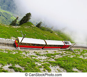 Retro passenger train - Retro passenger train moves from...